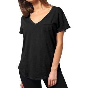 ABLE Clothing Black V-Neck Short Sleeve Shirt